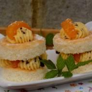 mini torciki z mandarynką