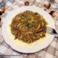 Duszone grzyby z ziemniakami