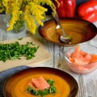 Jesienna zupa krem z dyni, papryki i ziemniaków