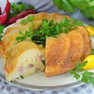 Babka serowa z kiełbasą