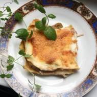 Lasagne z pieczarkami i gorgonzolą