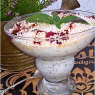 Lekki deser chia z ekspandowanym amarantusem i słodkim jabłuszkiem