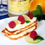 Ciasteczka miodowe z kremem limonkowym