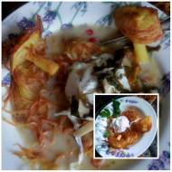 ziemniaczany makaron z zupa szczawiowa