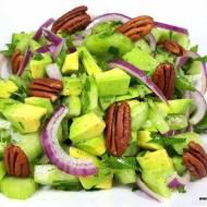 SAŁATKA Z AWOKADO I OGÓRKA (keto, LCHF, optymalna, paleo, bez glutenu i laktozy)