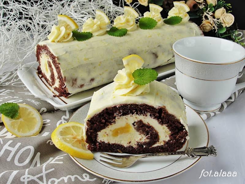 Rolada czekoladowa z lemon curd
