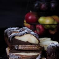 Czekoladowo- bananowe brownie z gruszkami