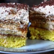 Ciasto banofee na biszkopcie