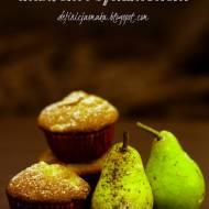 Muffiny z gruszkami, imbirem i cynamonem