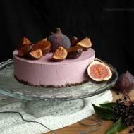 Odcienie fioletu - sernik z czarnym bzem i figami