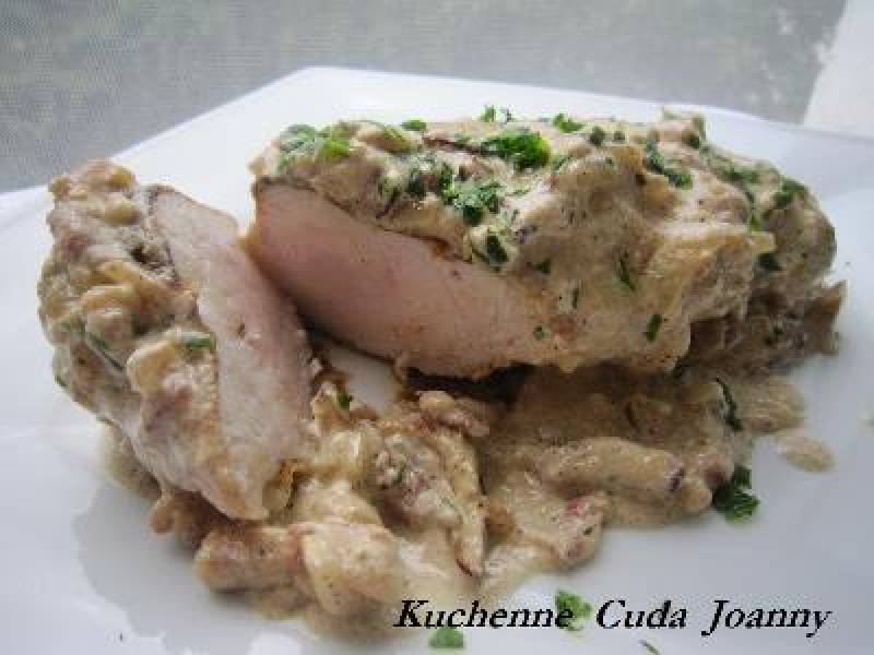Filet z Kurczaka w Sosie Carbonara