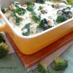 Brokuły zapiekane z serem pleśniowym
