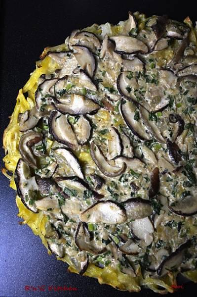 Tarta ziemniaczana z grzybami