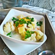 Zupa kalafiorowo - dyniowa