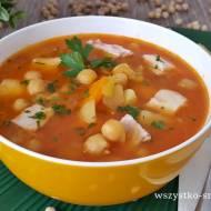 Zupa z cieciorki i czerwonej soczewicy