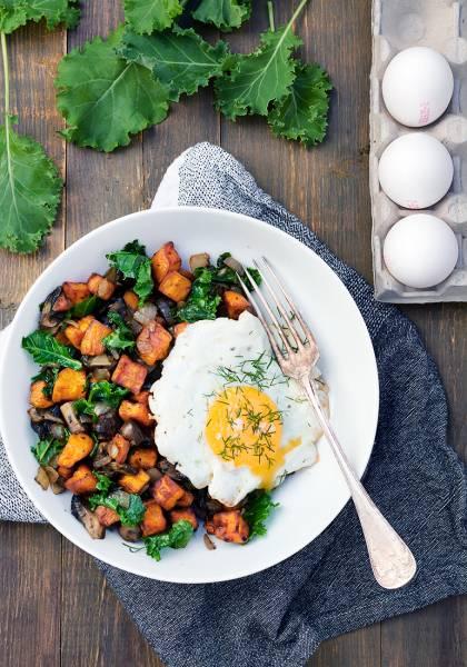 Przepis Na Tani Obiad Bataty Grzyby I Sadzone Jajko Codojedzenia