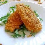 Piersi z kurczaka w płatkach kukurydzianych