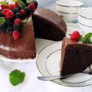 Ciasto czekoladowo adwokatowe z ganache