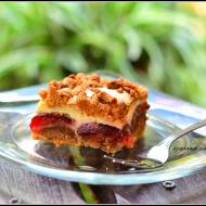 Ciasto kruche ze śliwkami i serem