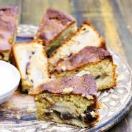 Ciasto z gruszkami, migdałami i czekoladą