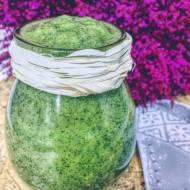 Zielony koktajl z awokado i roszponki