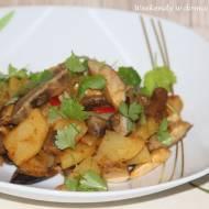 Ziemniaki z grzybami leśnymi i