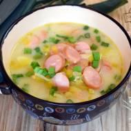Zupa porowa z parówkami