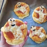Przekąska na Halloween - mini pizza duszki
