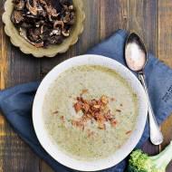 Szybki obiad-zupa grzybowa z brokułami