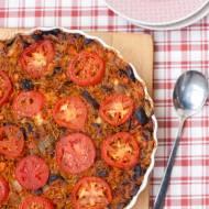 Zapiekanka makaronowa z bakłażanem i pomidorami