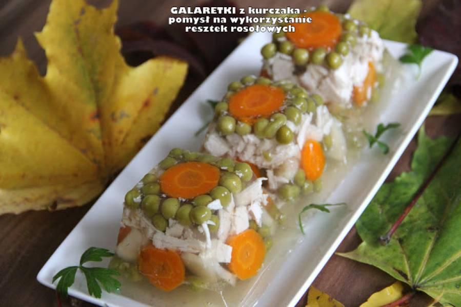 Galaretki z kurczaka - pomysł na wykorzystanie resztek rosołowych