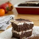Ciasto pomidorowo – czekoladowe z orzechami włoskimi – bez mąki pszennej, bez dodatku tłuszczu i białego cukru