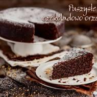 Puszyste ciasto czekoladowo orzechowe
