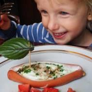 Śniadanie dla dzieci #4 - Jajko sadzone w parówce...