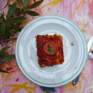 Jesienna lazania z dynią i pomidorami