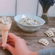 Sałatka z kalafiora w rożkach od lodów