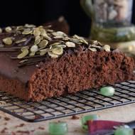 Ciasto czekoladowo-miętowe z pestkami dyni