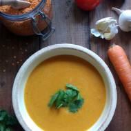 Zupa krem z czerwonej soczewicy i marchewki