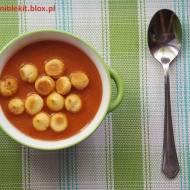 Kremowa zupa pomidorowo-cukiniowa