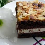 Szybkie ciasto ucierane z czekoladą i bitą śmietaną