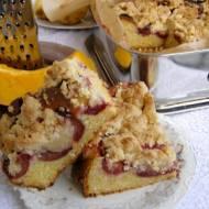 dyniowe drożdżowe ciasto ze śliwkami i kruszonką...