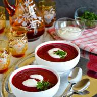 Zupa krem z buraków