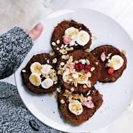 Pancakes owsiane a'la brownie