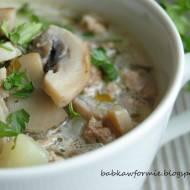 zupa pieczarkowa z mielonym mięsem i ziemniakami