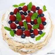 TORT BEZOWY PAVLOVA BEZ CUKRU, GLUTENU I LAKTOZY (keto, LCHF, paleo)
