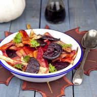 Sałatka z pieczonych warzyw korzeniowych