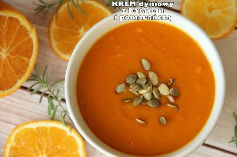 Krem dyniowy z batatem i pomarańczą
