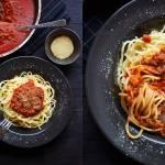 Spaghetti z orzechowym ragu (3 składniki)