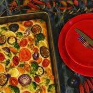 Jesienna focaccia z warzywami