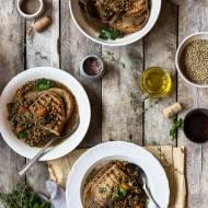 Umbryjska zupa z soczewicy i prawdziwków